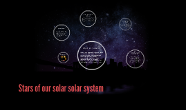 Stars of our solar solar system