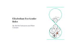 Elizabethan Gender Roles