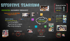 Effective and dynamic lesson planning