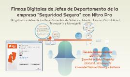 Firmas Digitales de Jefes de Departamento