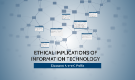 ETHICAL IMPLICATIONS OF INFORMATION TECHNOLOGY