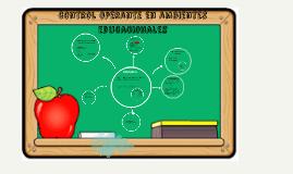control operante en ambientes educacionales