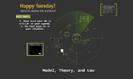 What is Science/Non-Science; Model, Theory, and Law
