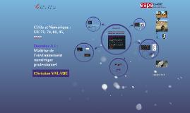 Copy of C2i2e : UE xx Domaine A1