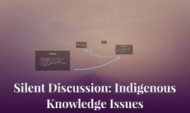 Silent Discussion: Indigenous Knowledge Issues