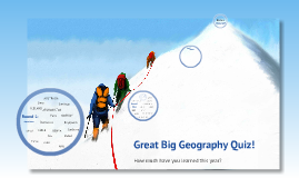 Year 8 Great big Geography quiz