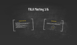 FBLA Meeting 3/16