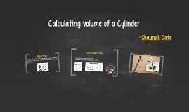 Calculating volume of a Right Circular Cone