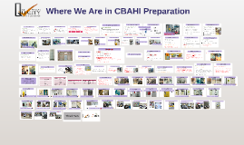 Copy of Where We Are in CBAHI Preparation