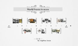 World Events in 1920s
