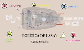POLÍTICA DE LAS 5's