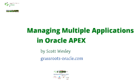 Managing Multiple Applications