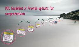 UDL Guideline 3: Provide options for comprehension
