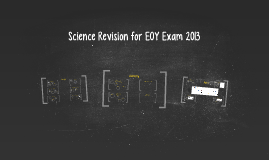 Science Revision EOY Exam