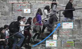 Oiartzo ikastola 2014-2015ko promozioa