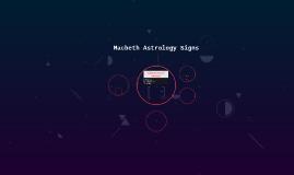 Macbeth Astrology Signs
