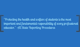 State Reporting Procedures