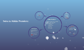 Intro to Adobe Premiere