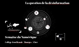 La question de la désinformation | Semaine du Numérique | Collège Jean Renoir - Bourges