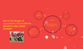 Copy of Due to the danger of concussions, Should kids be allowed to
