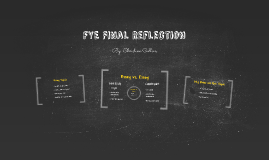 FYE Final Reflection