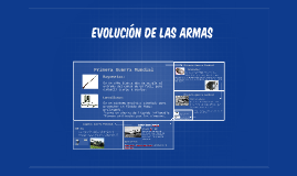 Evolucion de las armas