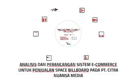 Perencanaan Strategi Sistem dan  Teknologi Informasi pada PT