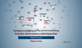 Tartalommarketing és Facebook marketing komplex alkalmazása