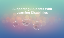 Supporting Students With Learning Disabilities