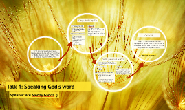 Talk 4: Speaking God's word