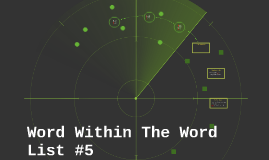 Word Within The Word List #5