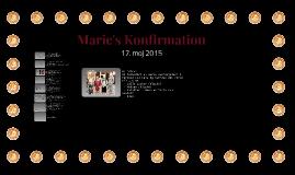 Marie's Konfirmation - 17. Maj