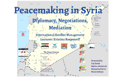 Peacemaking in Syria