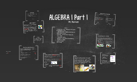 Algebra I Part 1 - day one