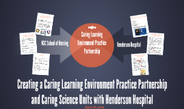 Creating a Caring Learning Environment Practice Partnership