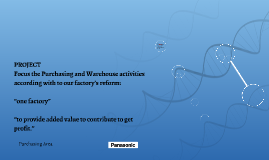 Focus the Purchasing and Warehouse activities  according wit