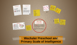 Wechsler Preschool and Primary Scale of Intelligence