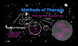 Copy of Methods of Therapy