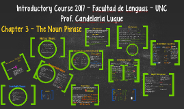 Introductory Course - The Noun Phrase