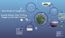 Copy of Water Health of Cayuga Lake