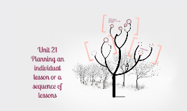 Planning an individual lesson or a sequence of lessons