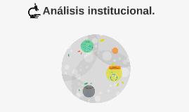 Análisis institucional.