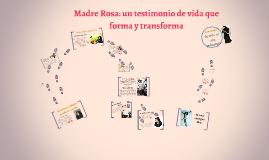 La Pedagogía de Madre Rosa