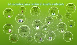20 medidas para cuidar el medio ambiente