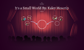 It's a Small World By: Kaley Moscrip