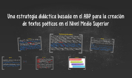 Una estrategia didáctica basada en el ABP para la creación d