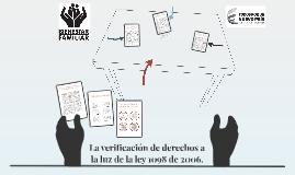 Copy of La verificación de derechos a la luz de la ley 1098 de 2006.