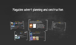 Magazine advert planning and construction