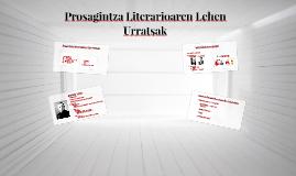 Prosagintza Literarioaren Lehen Urratsak