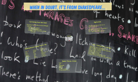 When in doubt, it's from Shakespeare...